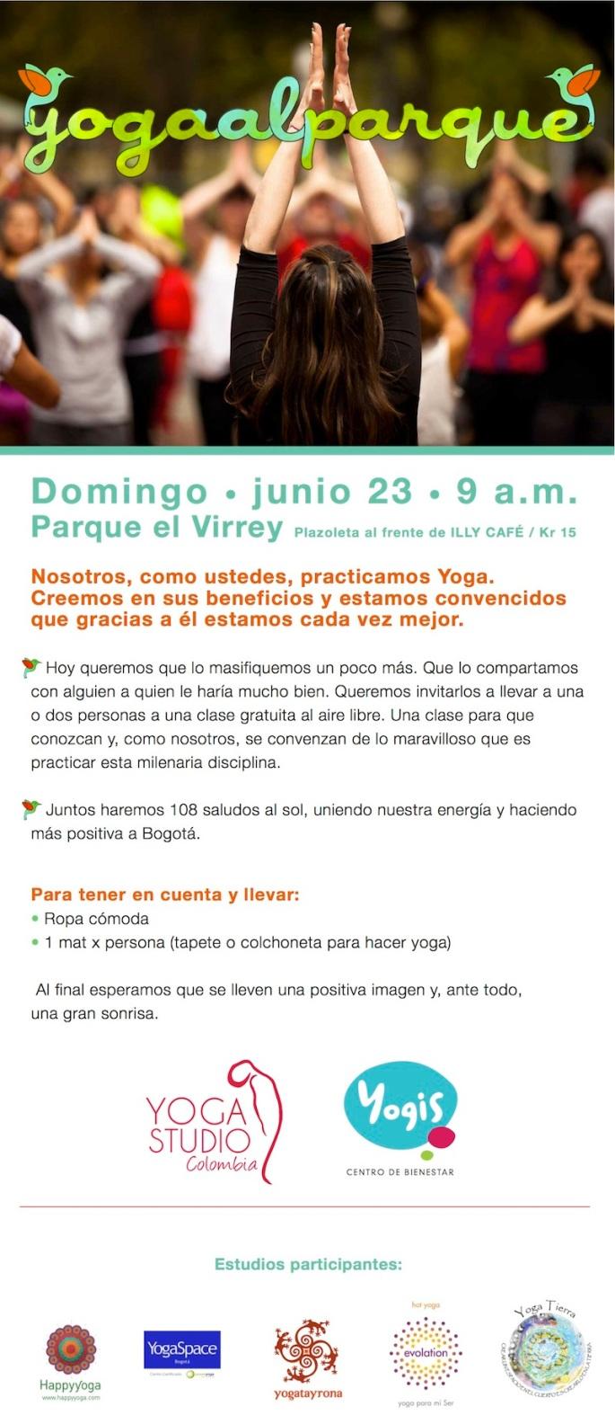 yoga al parque 2013, bogota, colombia, virrey