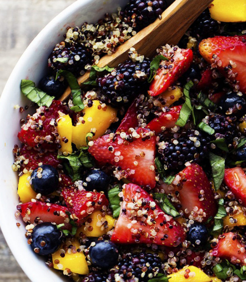 http://therecipecritic.com/2015/06/honey-lime-quinoa-fruit-salad/