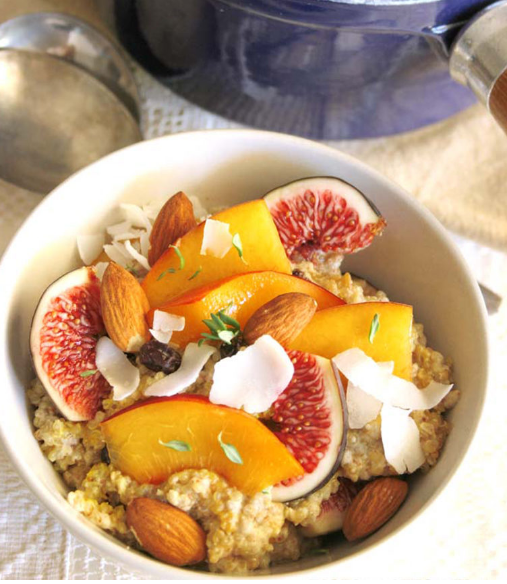 http://talesofakitchen.com/breakfast/quinoa-and-chia-porridge-with-stone-fruits/